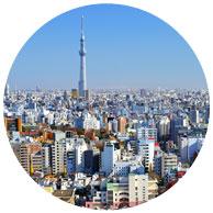 新宿を中心に首都圏に広がる街づくりイメージ